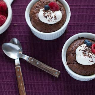 Five-Ingredient Molten Chocolate Cake.