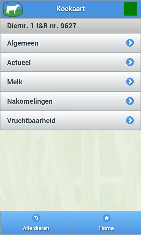 CowVision Mobile: screenshot