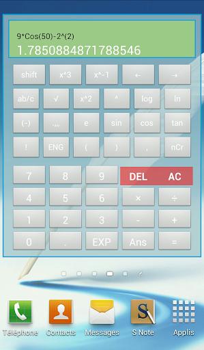 Widget Scientific Calculator