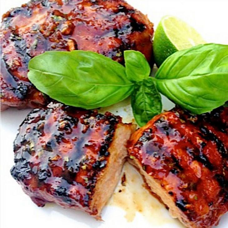 Pork Chops with Thai Honey Lime Marinade Recipe