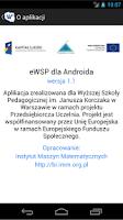 Screenshot of eWSP