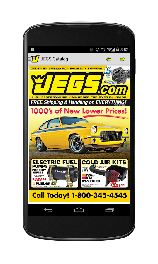 JEGS Catalog - screenshot
