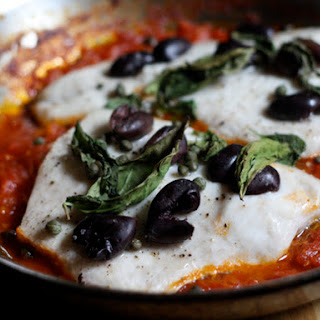Whitefish Baked with Tomatoes, Olives, and Capers