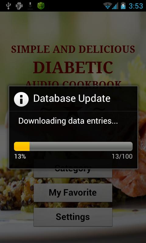 Diabetic Audio Recipes Lite - screenshot