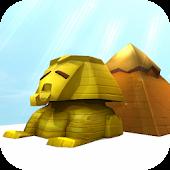 Egyptian Sphinx & Pyramid 3D