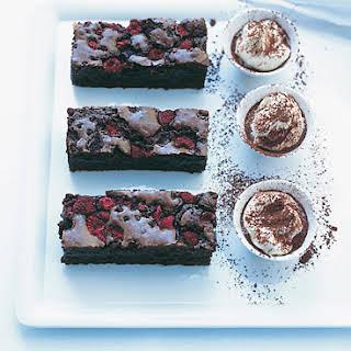 Raspberry-Spiked Chocolate Brownies.