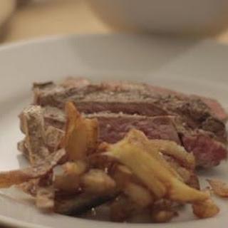 Rib Eye Steak And Truffle Chips.