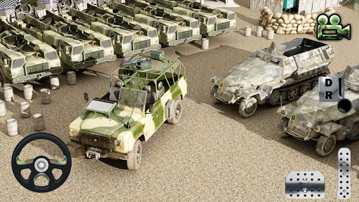 Drive and Park Military Jeep3D