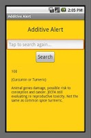 Screenshot of Additive Alert