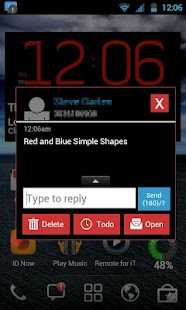 GO SMS THEME - Red Blue Shapes - screenshot thumbnail