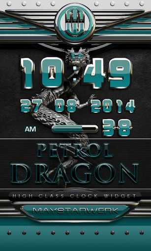 dragon digital clock petrol
