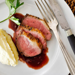 Peppered Duck Breast With Red Wine Sauce
