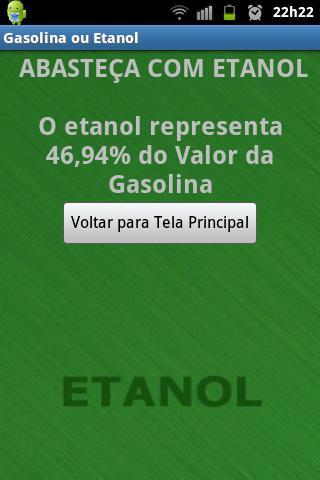 Gasolina ou Etanol - screenshot