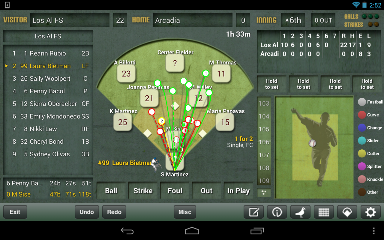 iScore Baseball/Softball - screenshot