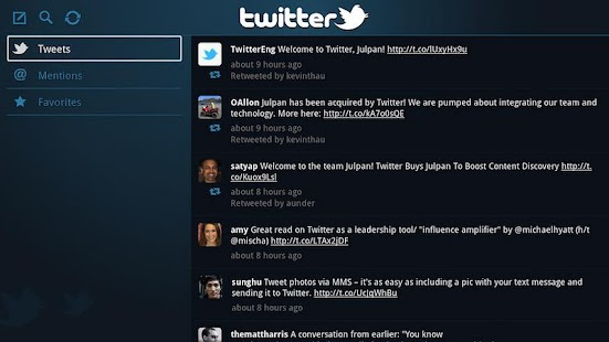 Twitter for Google TV - screenshot thumbnail