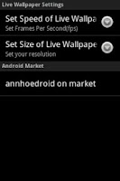 Screenshot of Animated Red Flower Live Wallp