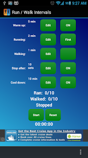 Run Walk Intervals Timer