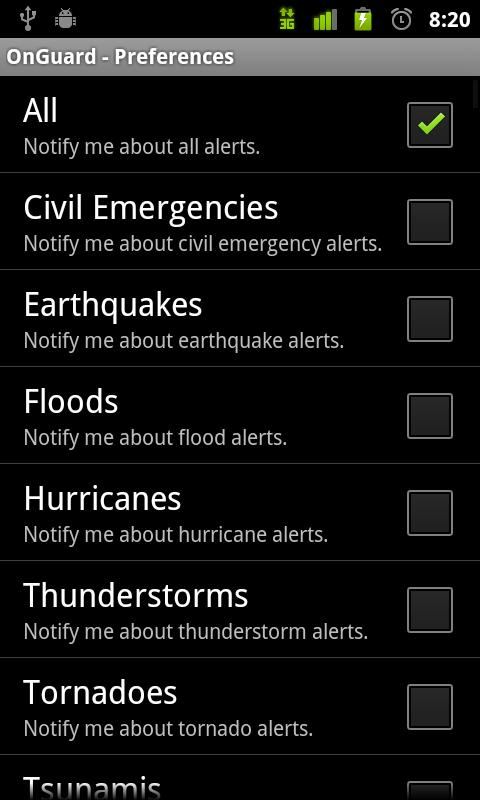 Onguard Weather Alerts - screenshot