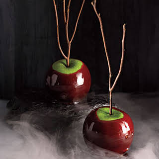 Cinnamon-Cider Candied Apples.