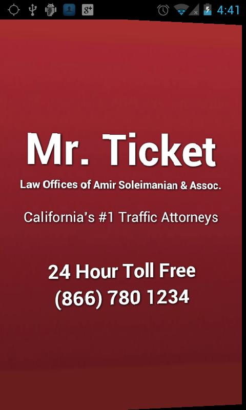 Mr. Ticket Traffic Attorney - screenshot