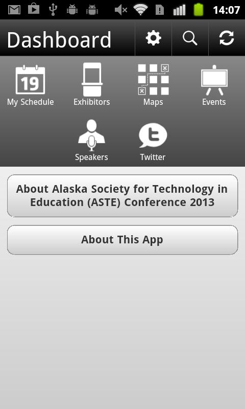 ASTE Conference 2013 - screenshot