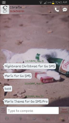 【免費個人化App】Bad Kitty Theme for Go SMS Pro-APP點子
