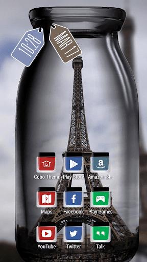 巴黎埃菲爾鐵塔在瓶主題