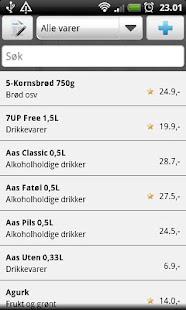 Handlelista Norge- screenshot thumbnail