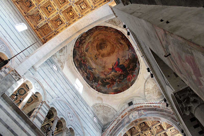Ceiling detail of the Duomo in Pisa, Italy.