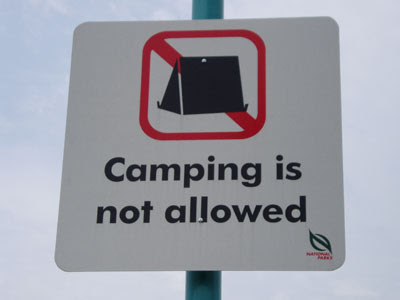 08 Camping not allow
