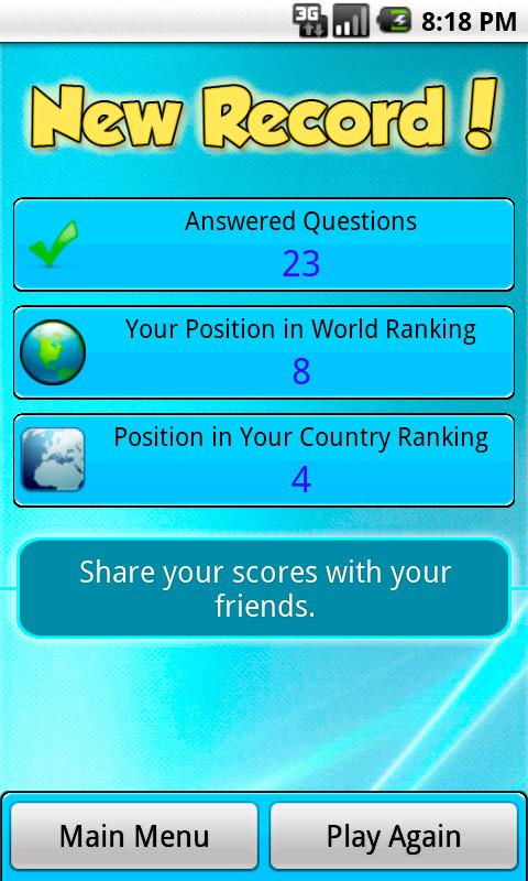 World Intelligence Contest - screenshot