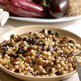 Chickpea and Eggplant Salad