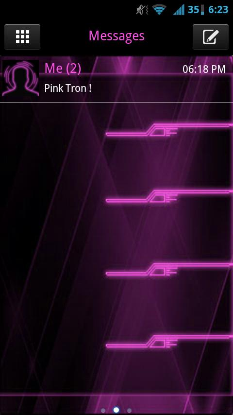 GO SMS Pink Tron Theme - screenshot
