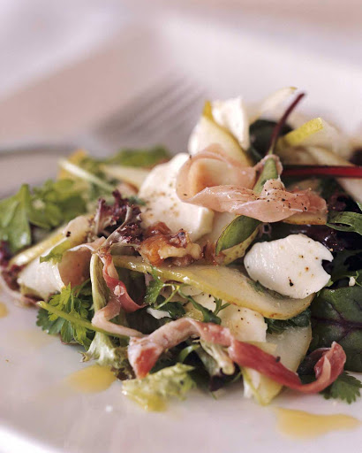 seafood-salad - A seafood salad in Bangalow, Northern Rivers, Australia.