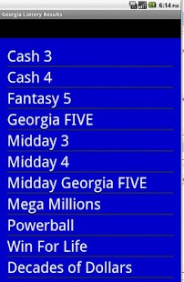 Georgia Winning Numbers Android Apps On Google Play