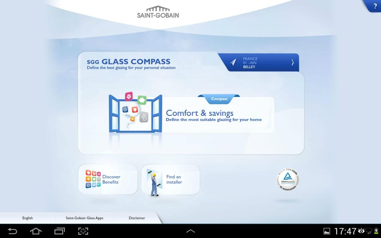 Glass Compass - screenshot
