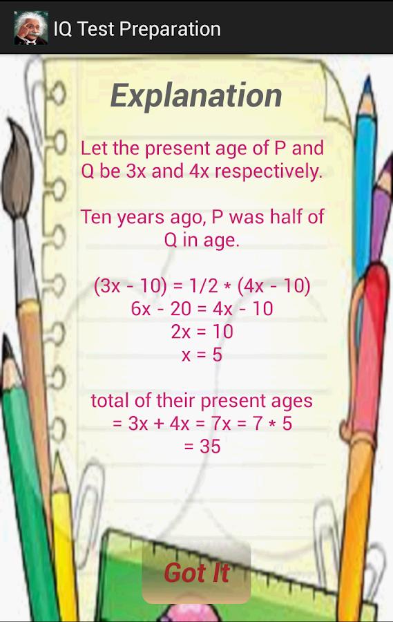 IQ Test Preparation