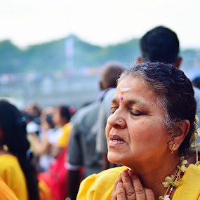 Deep Prayer by Domi Chung - People Portraits of Women ( thaipusam, prayer, face, faces, female, devotees, woman, asia, indian, deep prayer, portrait, asian,  )