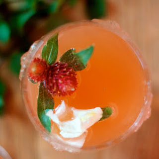 Grapefruit-Mint Bellini.