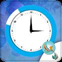 Blue Heaven Clock Widget