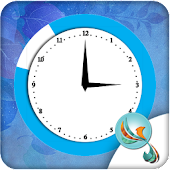 Blue Heaven Clock Widget