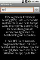 Screenshot of Woordenboek