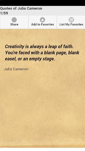 Quotes of Julia Cameron