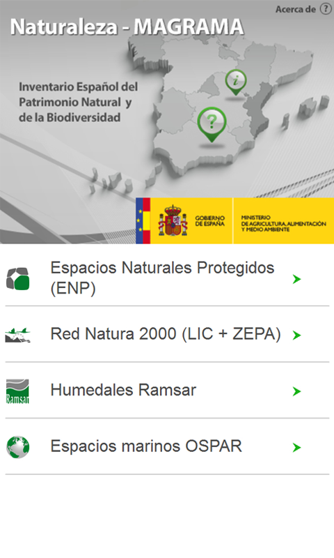 Naturaleza MAGRAMA - screenshot