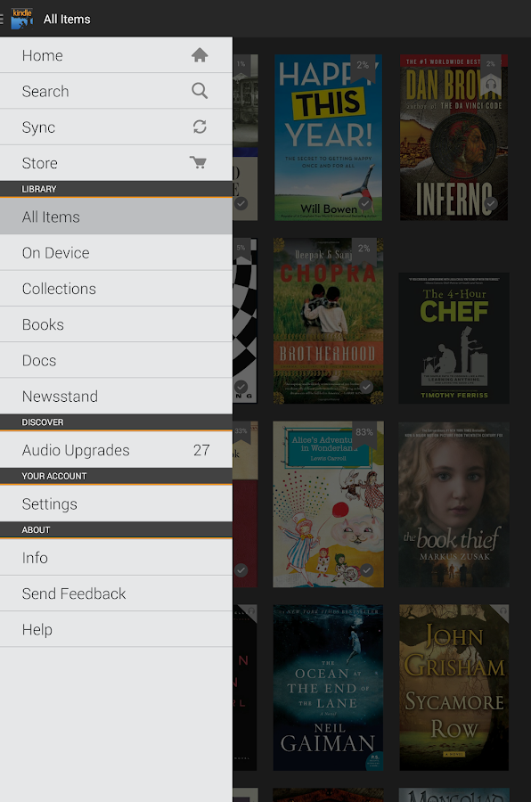 Amazon Kindle- screenshot