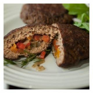 Vegetable Stuffed Beef Burger