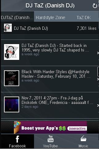 DJ TaZ (Danish DJ) - Fan app - screenshot