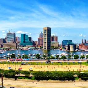 Charm City by Jamie Tambor - Instagram & Mobile iPhone ( harbor, baltimore, iphone, panorama, city )