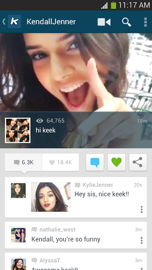 Keek - Social Video - screenshot