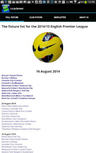 EPL Fixtures 1415